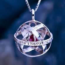 Pendentif Cristal Genesa argent avec cristal