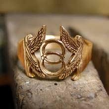 Vesica Pisces Ring Gold