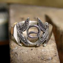 Vesica Pisces Ring Silver