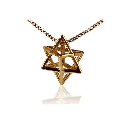 Merkaba Pendant Gold Small
