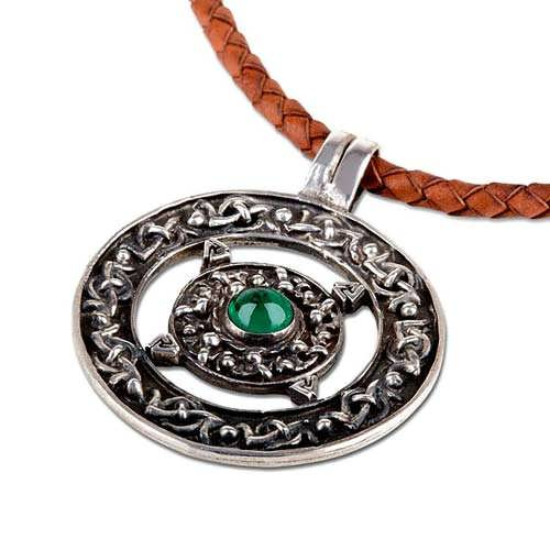 Norse Amulet silver with Emerald