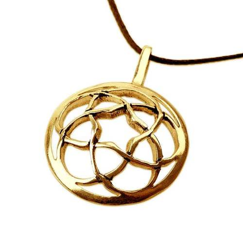Pentagramic Torus Knot Gold