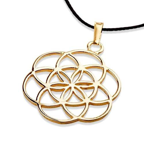 Seed of Life Pendant - Gold
