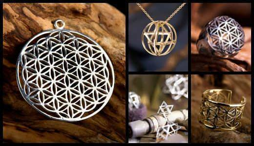 Flower of Life related Sacred Geometry jewelry