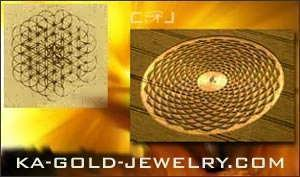 Ka Gold Jewerly - Flower of Life Pendant