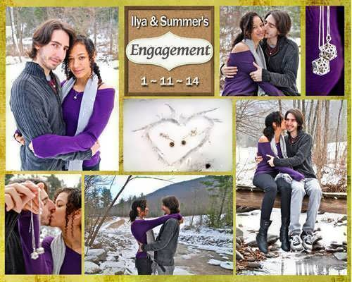 Summer and Ilya exciting engagement collage