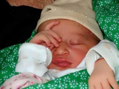 תינוקת חדשה נולדה