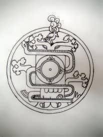 Mayan tree sketch