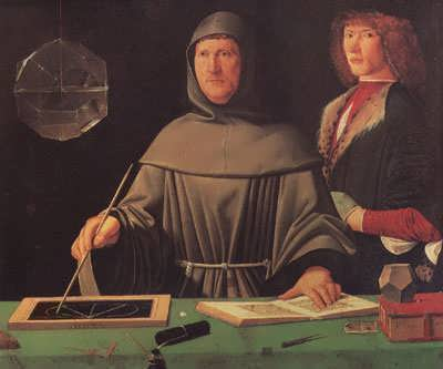 Portrait of Luca Pacioli from 1495