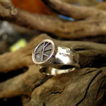 one race ring silver