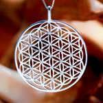 Flower of Life Pendant - Silver With Zircons