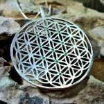 Inlaid Flower of Life Pendant Silver (TOL Pattern)
