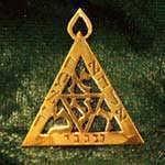 Rabbi Meir pendant gold