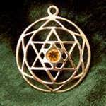 Star of David Mandala gold