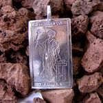 Tarot Magician Card Pendant Silver