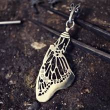 Inlaid Pendant of Acceptance Silver
