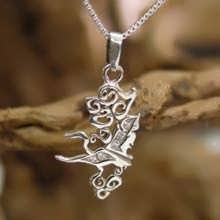 Air Element Pendant Silver Small