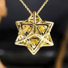 Alchemy/Vector Equilibrium Pendant Gold