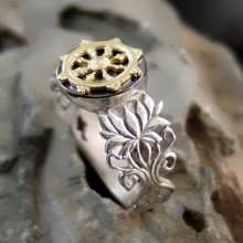 Dharma Ring Silver and Gold