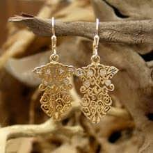The Earth Element Earrings Gold With Diamonds