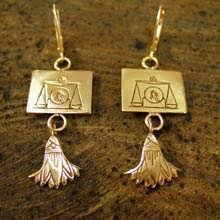 Libra Earrings Gold