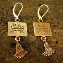 עגילי מזל קשת - זהב