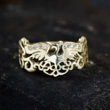 The Fire Ring Gold With Diamonds
