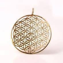 Flower of Life Gold with Diamonds