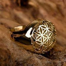 Flower of Life ring jewelry