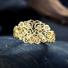 The Earth Ring gold with diamonds