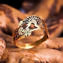 Japanese Crane Ring Gold