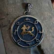 Jupiter Sagittarius Round Talisman Silver and Gold (*Limited Edition*)