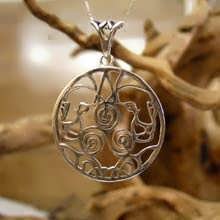 Lioness Motherhood Pendant Silver