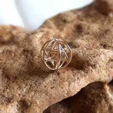 Merkaba With Prana Sphere Gold Small