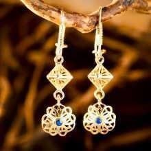 Nefertiti Lotus Earrings