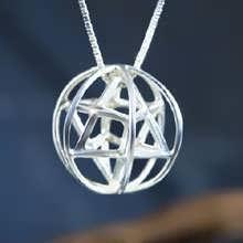 Кулон «Меркаба со сферой праны», серебро, средний