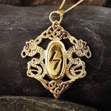 Rune Pendant Gold