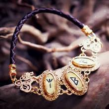 Bracelet Runes Or
