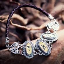 Bracelet Runes Argent