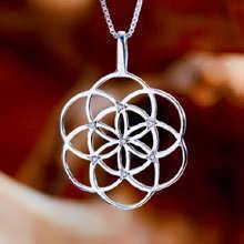 Seed of life pendant silver With Gemstones