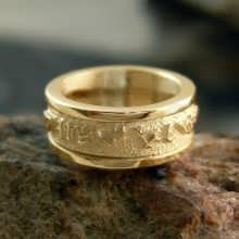 Personalized Solar Ring Gold