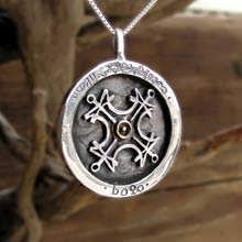 Sun Talisman - Silver with Gold