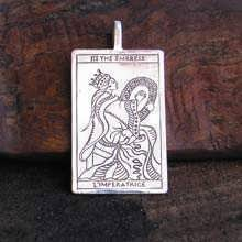 Tarot Empress Pendant Silver