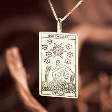 Tarot Star Card Pendant Gold