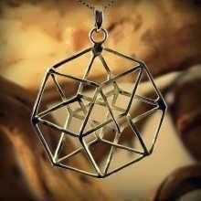 Tesseract Pendant Silver