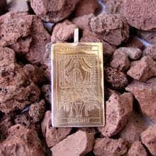 Tarot Streitwagen Anhänger Gold