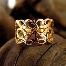 Кольцо «И это пройдет», золото