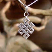 Tibetan knot Pendant silver