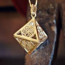 Time and Space Pendant Gold