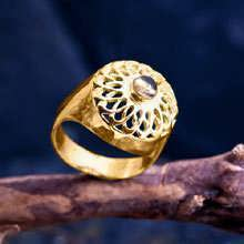 Torus Knot Ring Gold